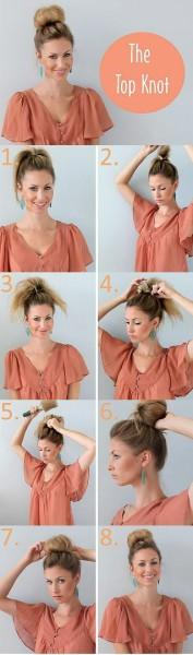 The Top Knot hairstyle - StyleCraze