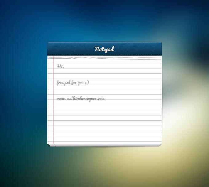 Notepad UI - 365psd