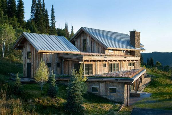 Modern meets rustic in this eco friendly mountain home enpundit 103915 on wookmark Rustic home architecture
