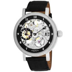 Akribos XXIV Men's Skeleton Mechanical Stainless Steel Strap Watch | Overstock.com