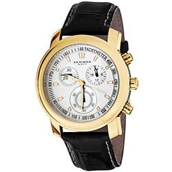 Akribos XXIV Coronis Men's Chronograph Quartz Strap Watch | Overstock.com