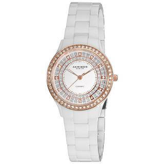 Akribos XXIV Women's Slim Ceramic Quartz Watch | Overstock.com