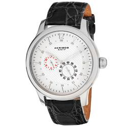 Akribos XXIV Men's Paros Automatic Multifunction Strap Watch | Overstock.com