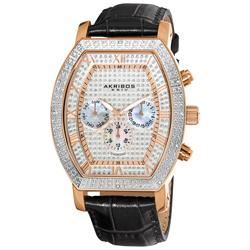 Akribos XXIV Men's Multifunction Diamond Tonneau Swiss Quartz Watch | Overstock.com