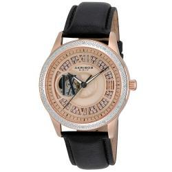 Akribos XXIV Ladies Open Heart Diamond Automatic Watch | Overstock.com