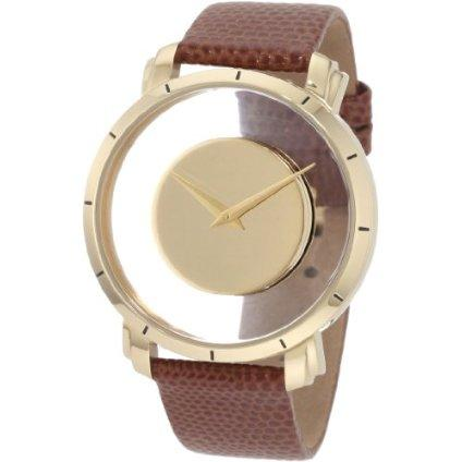 Akribos XXIV Men's AK412YG Spacely Floating Gold-Tone Watch - designer shoes, handbags, jewelry, watches, and fashion accessories | endless.com