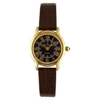 Buy.com - Sartego SEN782R Gold Tone Toledo Dress Watch Black Dial Strap