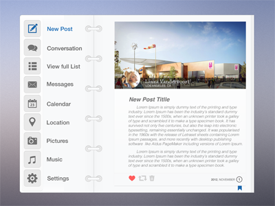 Social Journal UI - (PSD) by Nathan Fwamb