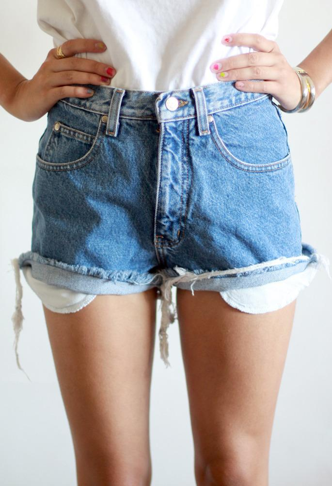 Cross Studded Cut-off Shorts | tarte. | New & Vintage Clothing & Accessories