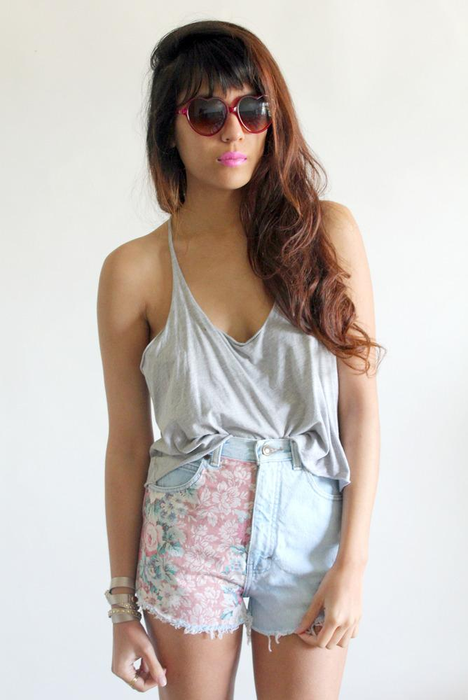 Denim Cut-off Floral Shorts | tarte. | New & Vintage Clothing & Accessories