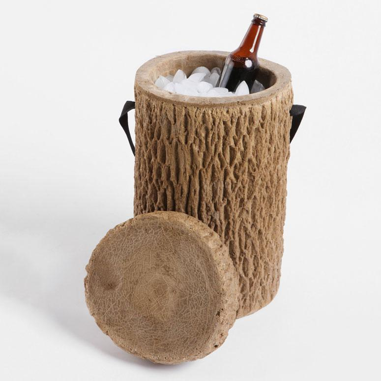 Log Stump Cooler - The Green Head