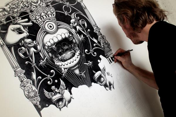Insanely Detailed Artwork By Joe Fenton » Downgraf - Design Weblog For Designers