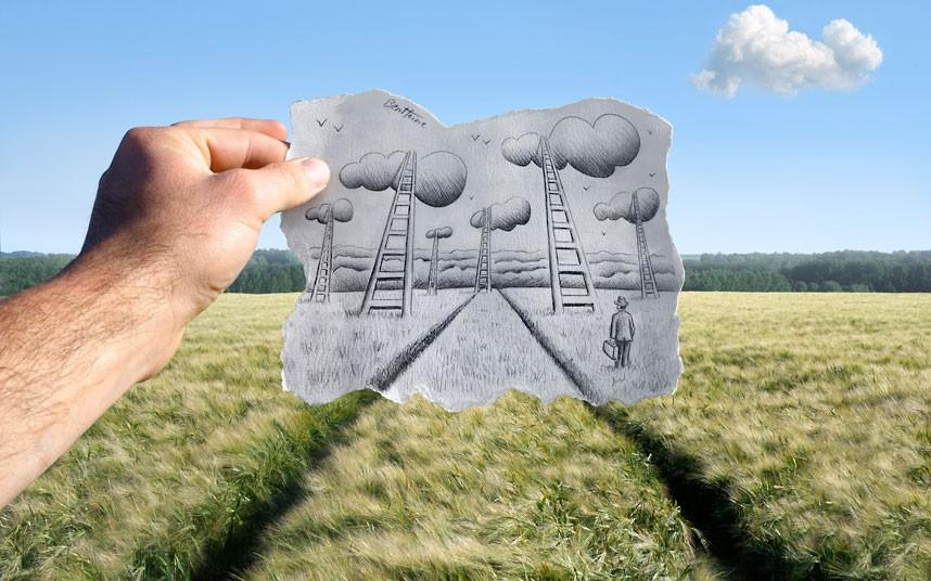 Pencil vs Camera by Ben Heine - Telegraph