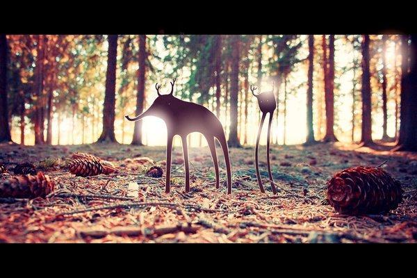Deerfant_and_his_friend_by_Eredel.jpg (??????????? «JPEG», 600×400 ????????)