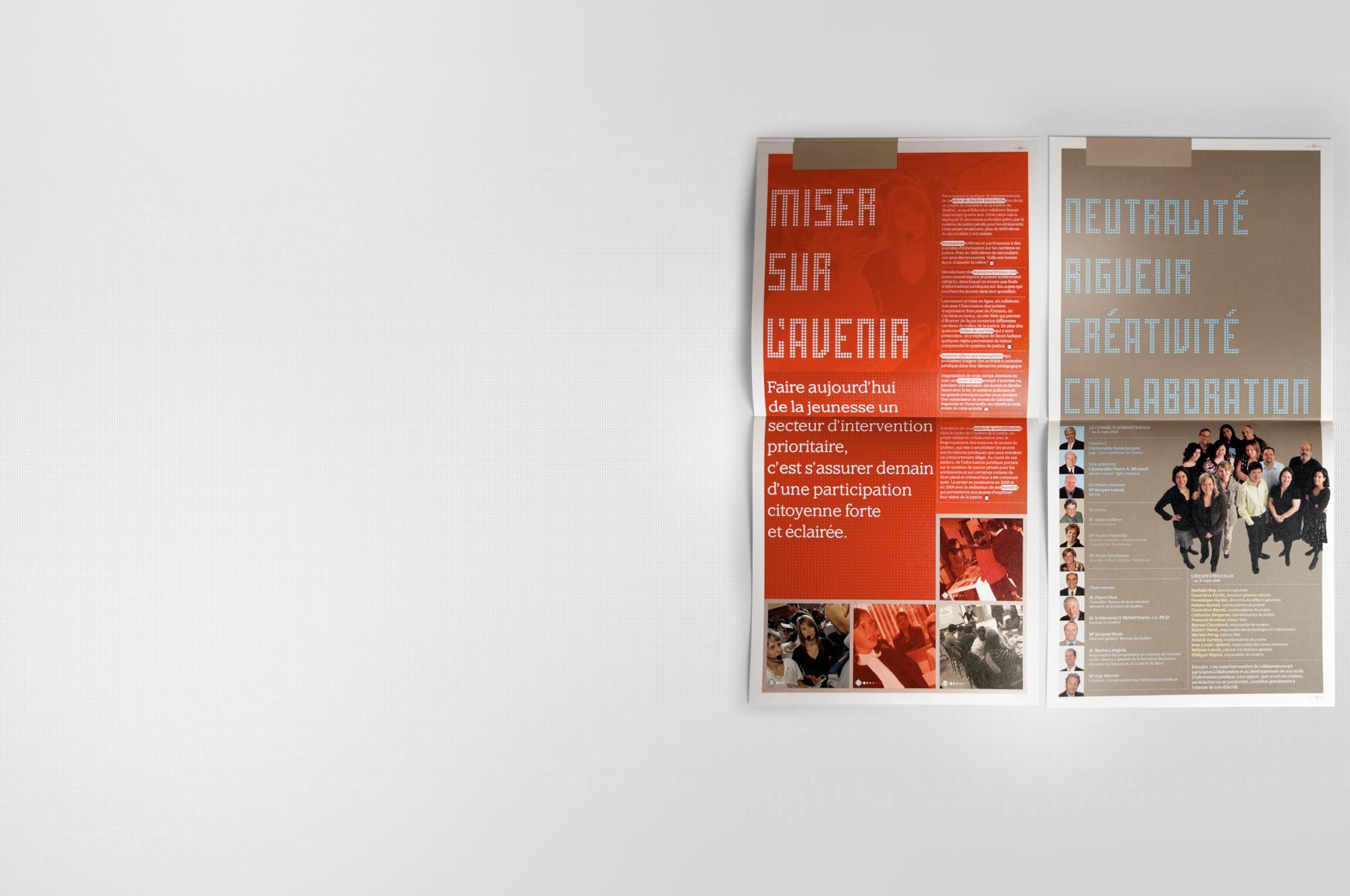 FOLIO - Educaloi_Rapport annuel 2008 | Zen Branding Design & Com