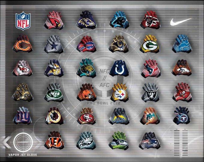 2012 Pro Bowl Vapor Jet Gloves