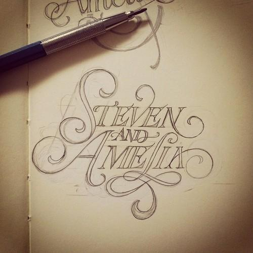 25 dessins typographiques inspirée | De le Nord