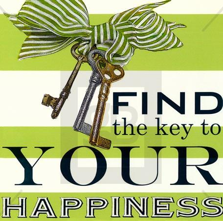 Find the Key to your Happiness - Wall Art