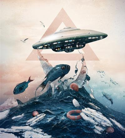 UFO Art Print by Tk_tk | Society6