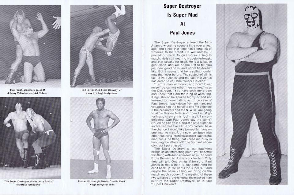 Rare 1975 Mid-Atlantic Championship Wrestling Program Ric Flair NWA WWE | eBay