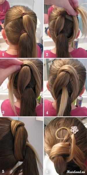 two thread pony tail - StyleCraze