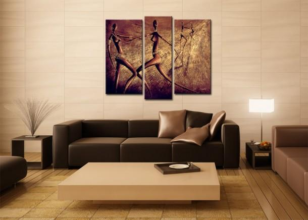 26 examples in pictures - How to choose a painting for living room