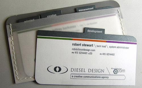 Alan Patten Creative Marketing Specialist > Portfolio > Diesel Design Business Cards