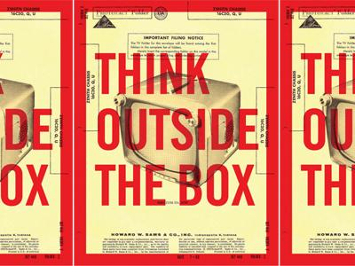 Think Outside The Box by Tim Frame