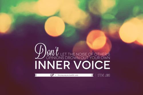 For you & you & you » In addition, learn to differentiate between noise...