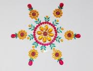 Colourful Round Rangoli by kundan bead rangolis at itshandmade.in - 3mik.com