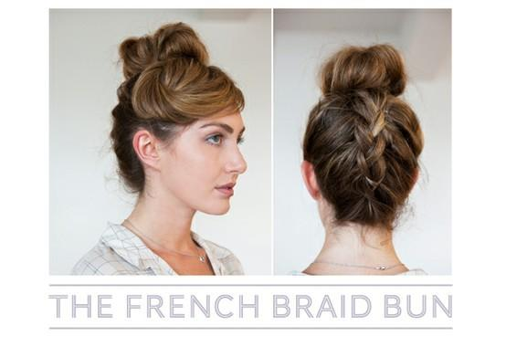 the french braid bun - StyleCraze