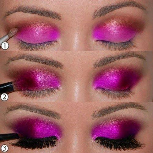 dark rose eye makeup - StyleCraze