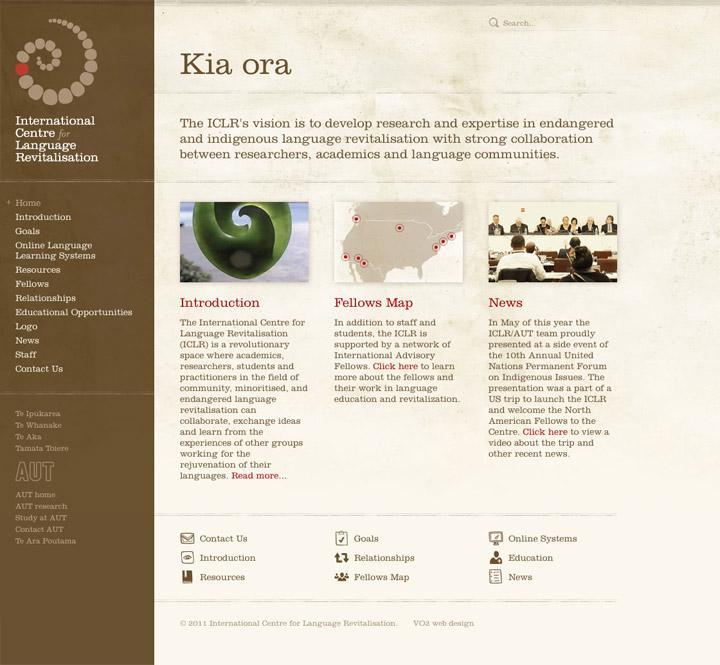 BENEK // International Centre for Language Revitalisation // Branding + Web Design