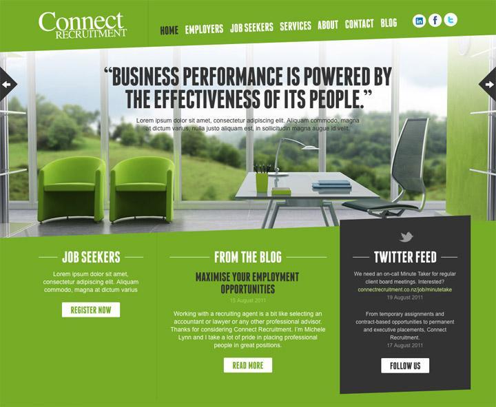 BENEK // Connect Recruitment // Web Design
