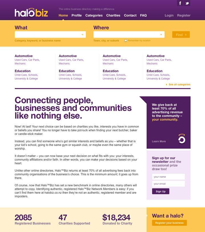 BENEK // HaloBiz // Web Design