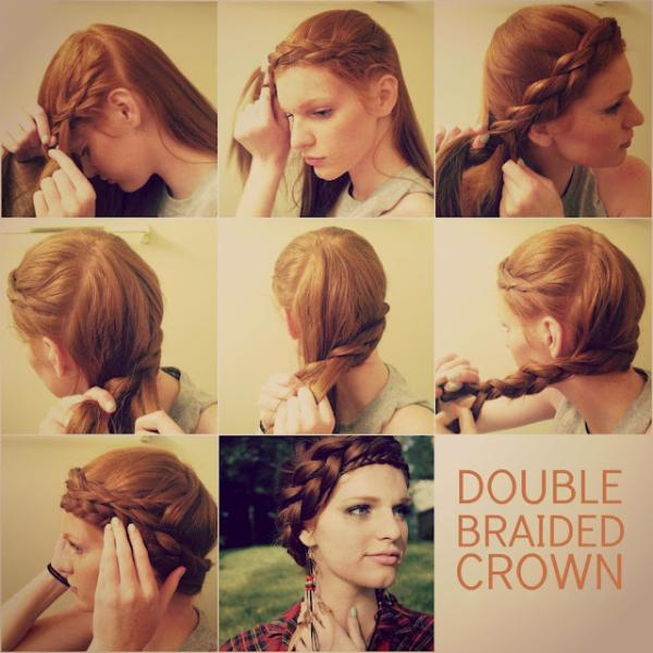 crown braid tutorial - StyleCraze