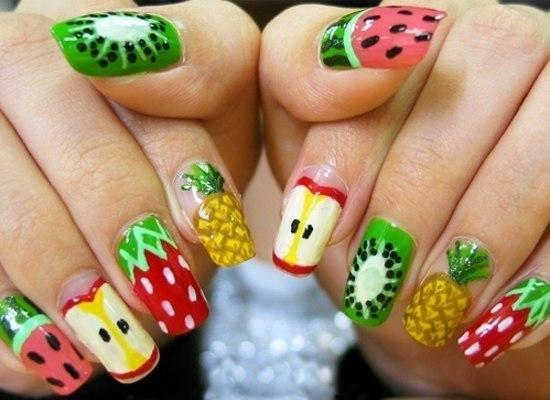 fruit nail art - StyleCraze
