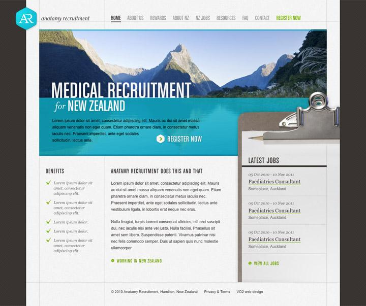 BENEK // Anatamy Recruitment // Web Design