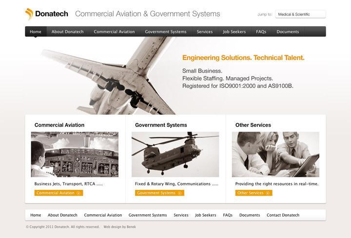 BENEK // Donatech // Identity + Web Design