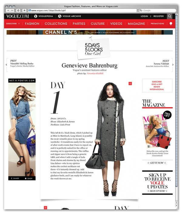 Vogue.com sur la conception Web Servi