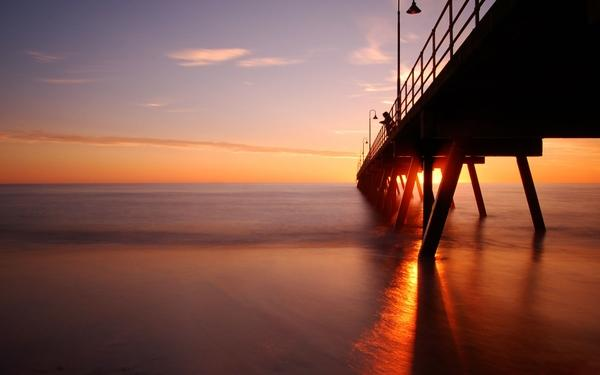 landscapes,sunset sunset landscapes coast pier dusk seascapes 1920x1200 wallpaper – Landscapes Wallpapers – Free Desktop Wallpapers