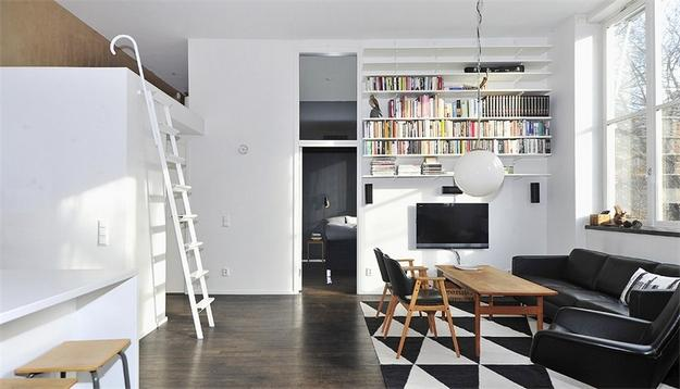 Amazing two-room apartment in Stockholm | Interior Design and Architecture