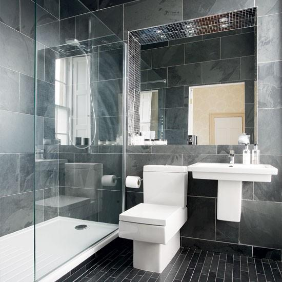 Modern charcoal grey bathroom bathroom designs for Ideal home bathroom ideas