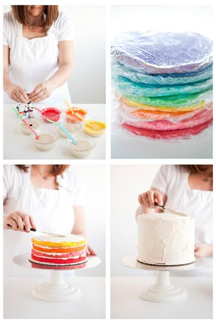 I could do that. / Rainbow cake. Rainbow cake. Rainbow cake.