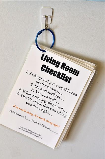 Good Clean Fun / check list for cleaning the house