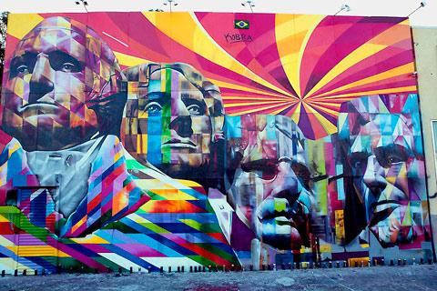 LA's giant Mount Rushmore street mural — Lost At E Minor: For creative people