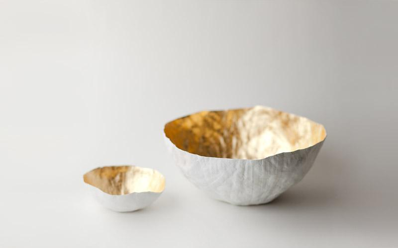 up in the air somewhere | paper vessels | gold bowls