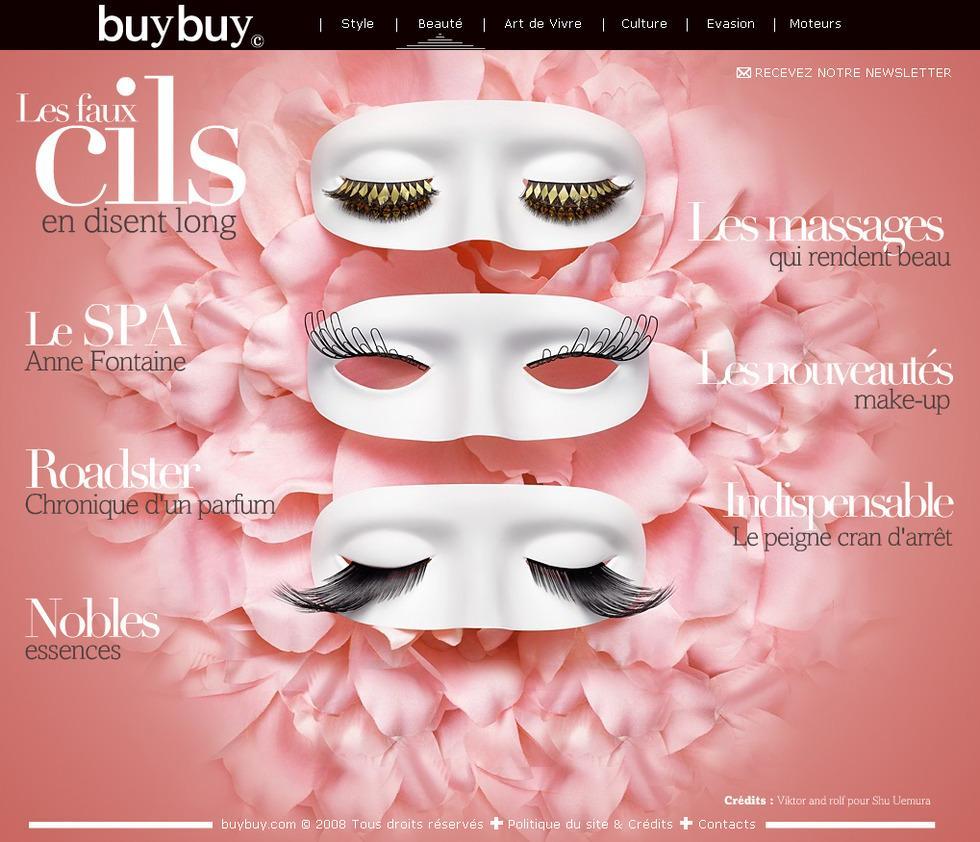 Direction Artistique Web pour Buybuy.com via Dreamag en Freelance > Creasenso