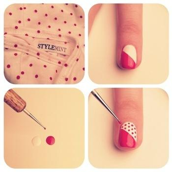hot dot nails! - StyleCraze