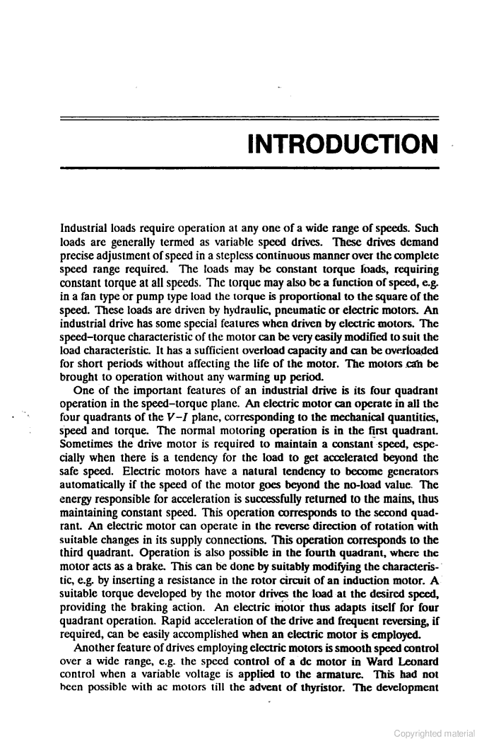 Electric drives: concepts and ... - Vedam Subrahmanyam - Google Books